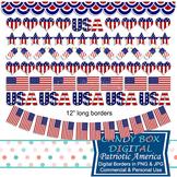 Patriotic America Borders & Bunting