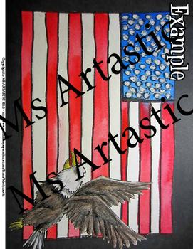 Patriotic American Art Lesson, United States Flag
