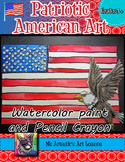 Patriotic American Art Lesson, United States Flag