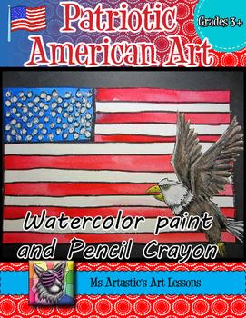 United States, American Flag Art Lesson