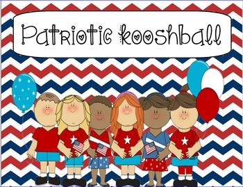 Patriotic/ American/ Military themed Kooshball Game for SMARTboard