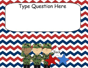 Patriotic/ American/ Military themed Kooshball Game for SMARTboard