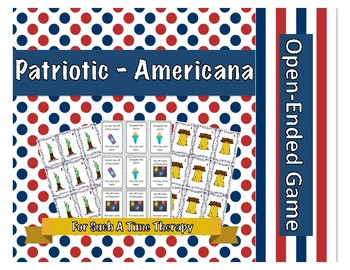 Patriotic Americana Open Ended Game