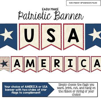 Patriotic, Americana, or Fourth of July Banner