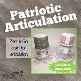 Patriotic Articulation: No Prep, No Mess Craftivity