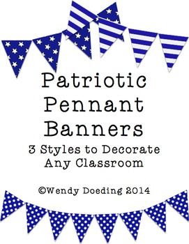 Patriotic Banner Pennant Classroom Decoration