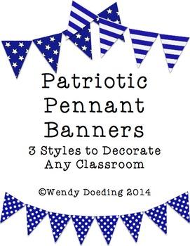 Patriotic Banner Pennant Classroom Decoration
