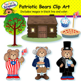 Patriotic Bears Clip Art