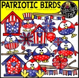 Patriotic Birds Clip Art Set {Educlips Clipart}