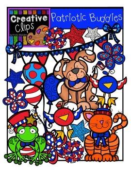 Patriotic Buddies {Creative Clips Digital Clipart}