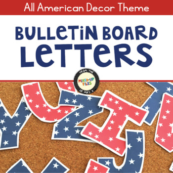 Patriotic Bulletin Board Letters
