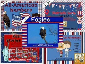 Patriotic Bundle * 5 Patriotic Products Math ELA Science History