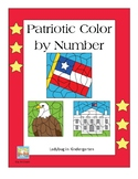 Patriotic Bundle Color By Number and Snap Cubes Counting