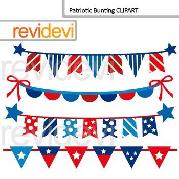 Patriotic Bunting Clip Art