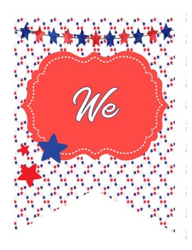 Patriotic Bunting Poster Set - United We Learn!