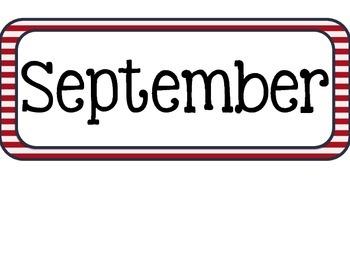 Patriotic Calendar Months