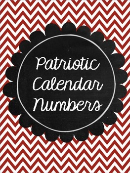 Patriotic Calendar Numbers