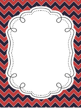FREE Patriotic Chevron Create-Your-Own Posters Lists with PDF JPEG and PNG Files