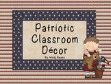 Patriotic Classroom Decor - America