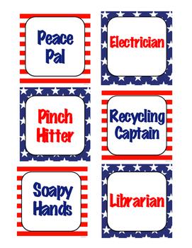 Patriotic Classroom Job