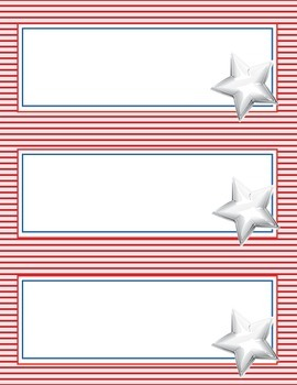 Red, White & Blue, Stars, Flag Themes