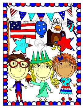Patriotic Clip Art-4th of July {Confetti and Creativity Clip Art}