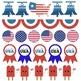 Patriotic Clip Art Borders for Holidays, Civics, US Histor