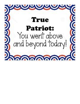 Patriotic Clip Chart