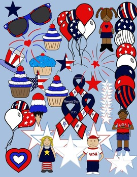 Patriotic Clipart * Memorial Day * 4th of July * Veterans Day