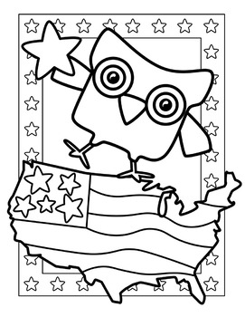 kindnessnation Patriotic Coloring Pages by Splashy Pix | TpT