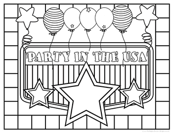Patriotic Coloring Pages By The Brighter Rewriter Tpt