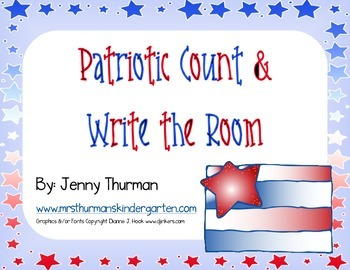 Patriotic Count and Write the Room