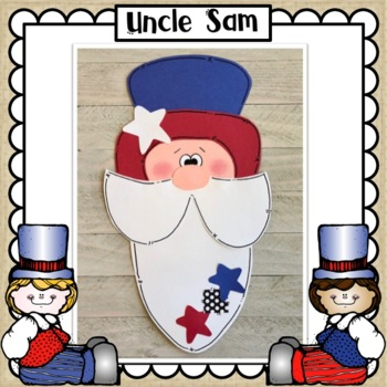 Patriotic Craft Bundle: Uncle Sam, Firecracker and Statue of Liberty