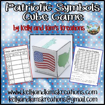 Patriotic Symbols Cube Game {roll, tally, & graph skills}
