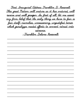 Patriotic Cursive Handwriting Practice