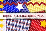 Patriotic Digital Paper Pack