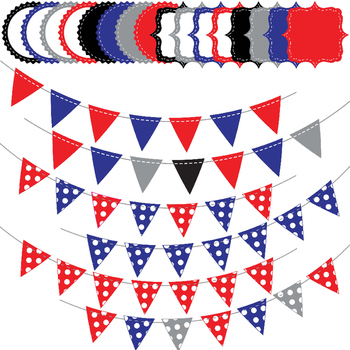 Patriotic Digital Paper and Clip Art Pack