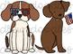 Patriotic Dogs Digital Clip Art Set