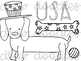 Patriotic Dogs Digital Clip Art Set- Black Line Version