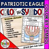 Patriotic Eagle Color By Symbol (Music)