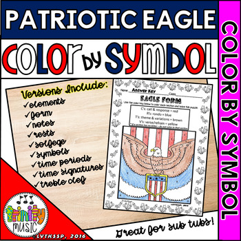 Patriotic Eagle Color By Number (Music)