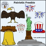 Patriotic FREEBIE Clip Art by Dandy Doodles