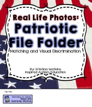 Patriotic File Folder Activities Autism Resource