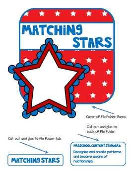 Matching Stars File Folder Game
