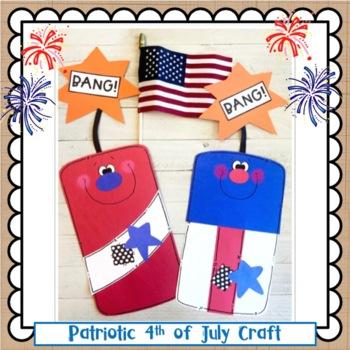 "Patriotic ""Firecracker"" Craft: Summer or Presidents Day"