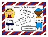 *AZELLA* practice Patriotic Fixing and Writing Sentences