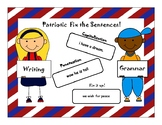 *AZELLA* practice Patriotic Fixing and Writing Sentences