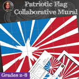 Patriotic Flag Collaborative Poster - American Flag Collaborative Mural