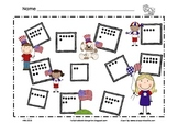 Patriotic, Flag Day Math Mat ~ Roll and Cover (or) Color Game, Addition