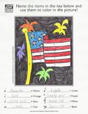 Patriotic Flag Music Activity Sheet